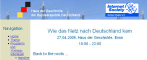 "ISOC.DE Konferenz ""Roots of the Net"" 2006"