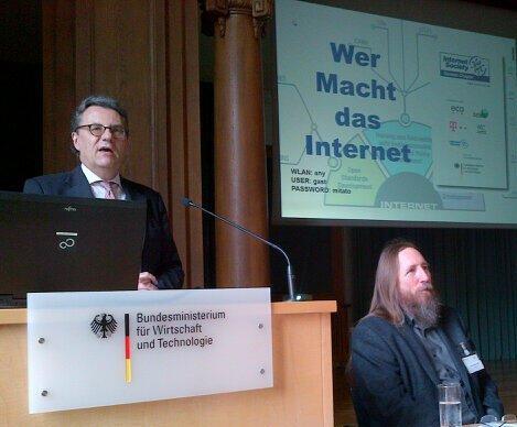 Redner von Hans-Joachim Otto und Hans Peter Dittler