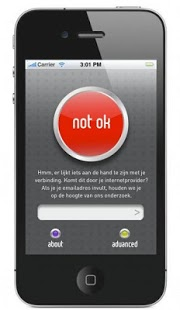Die Open Internet App sagt 'Not OK'
